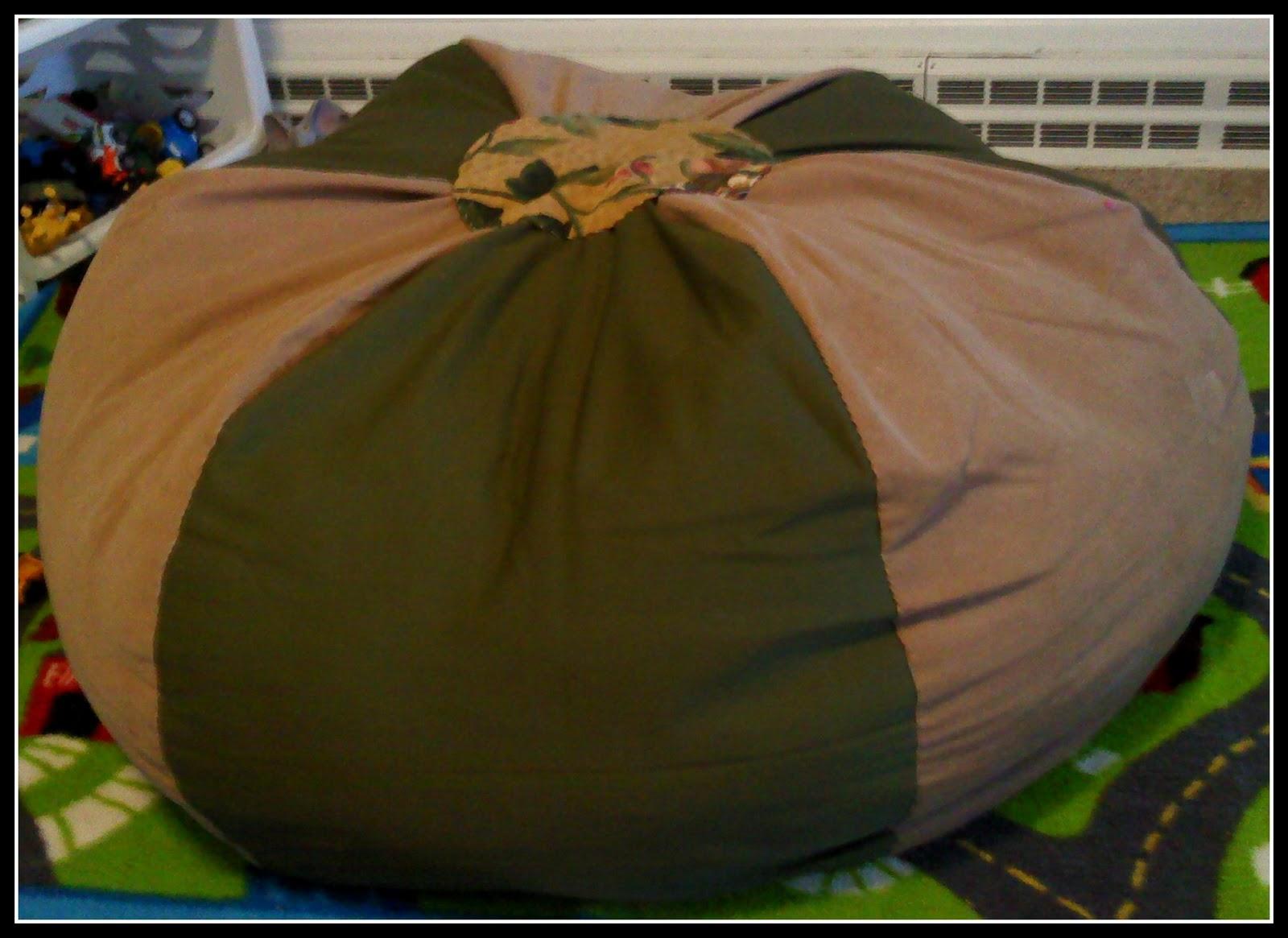 The Walnut Acre Chronicles Homemade Bean Bag Chair