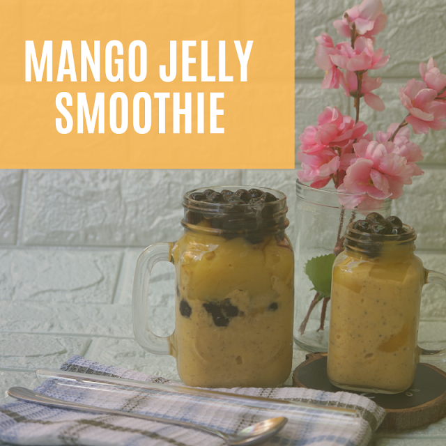 Mango Jelly Smoothie Using Mr. Hat Gulaman