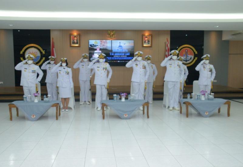 Danlantamal IV Melalui Virtual Ikuti Upacara HUT ke-75 TNI AL