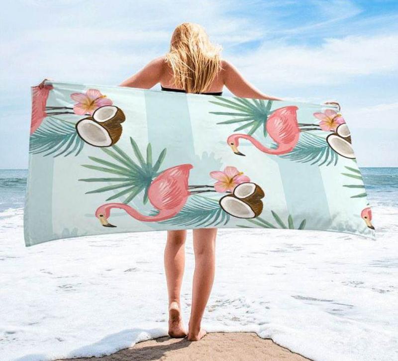 ręcznik z flamingami