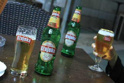 Ozujsko beer in Zadar