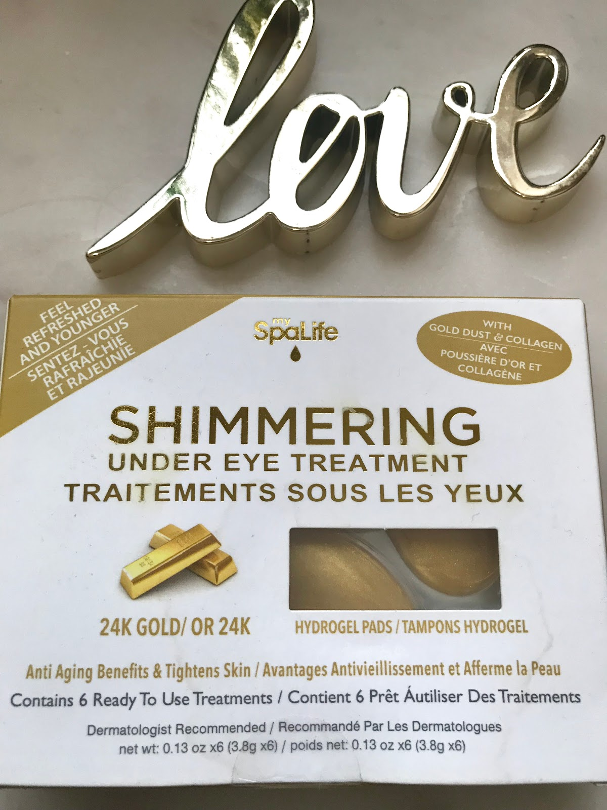 When it comes to dealing with my under eye bags, I love to use under eye treatments. Lately Ive been crushing over Spa Life Gold Shimmers. When I am using those, I grab the cucumber ones for a cooling feeling when my eyes are super tired.