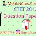 CTET Question Paper 2016 PDF Download