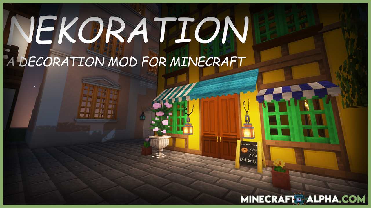 Minecraft Nekoration Mod 1.17.1 (Decoration And Furniture)