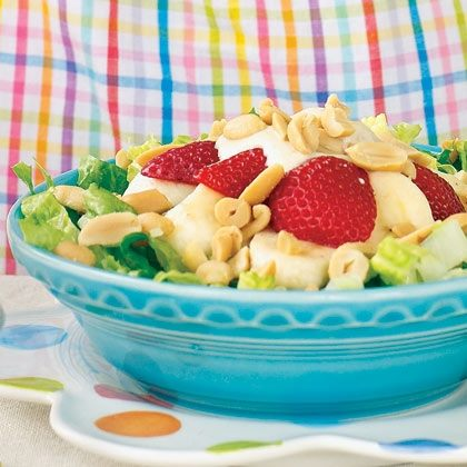 Peanut Butter, Banana, and Berry Salad Recipe