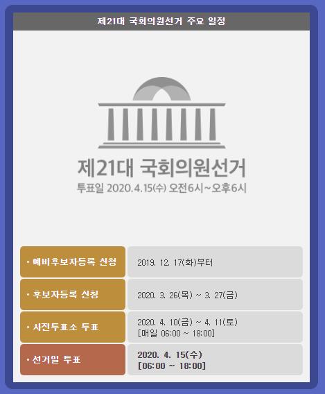 국민의 심판 시작! 21대 국회의원 선거 바로알기!