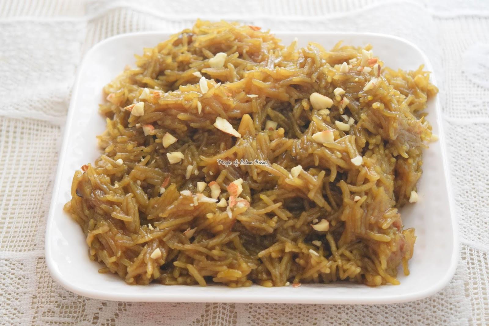 Jaggery Rice in Pressure Cooker Recipe - गुड़ के मीठे चावल प्रेशर कुकर में बनाये - Priya R - Magic of Indian Rasoi