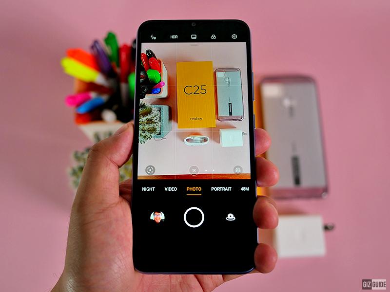 The camera UI of C25