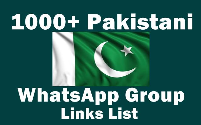 1000+ Pakistani WhatsApp Group Links List