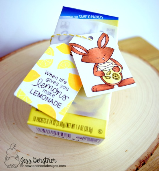 Lemonade Packet gift Tags by Jess Gerstner | Freshly Squeezed Stamp set by Newton's Nook Designs #newtonsnook