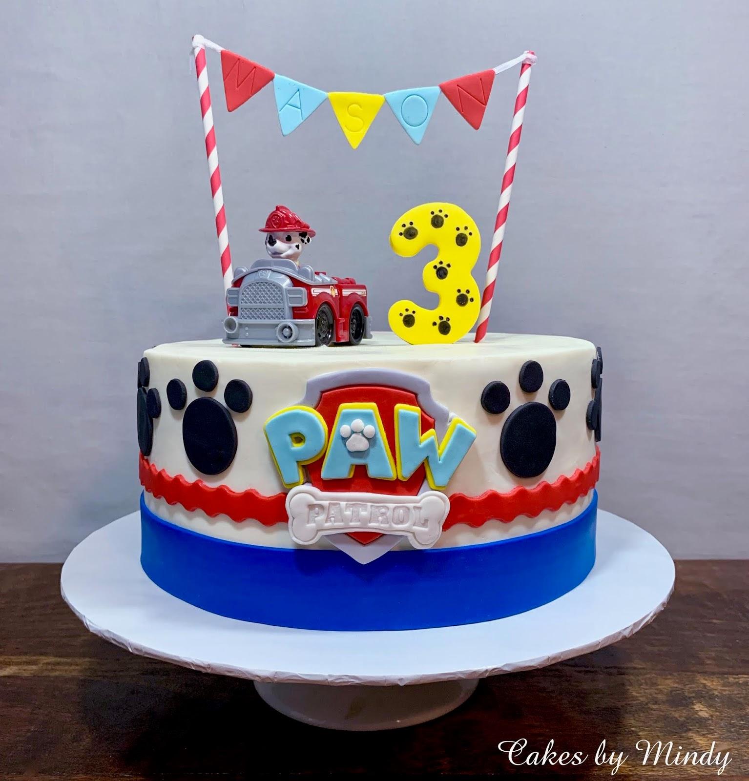 """cakesmindy marshall paw patrol cake 10"""""""