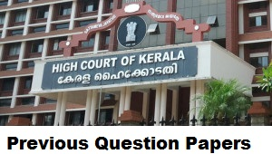 Keral Judicial Service Exam Previous Question Papers
