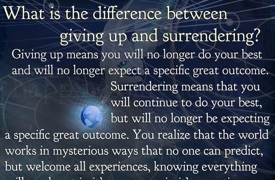 You Can Give A Great And Wonderful Christmas If You: Giving Up Vs. Surrendering