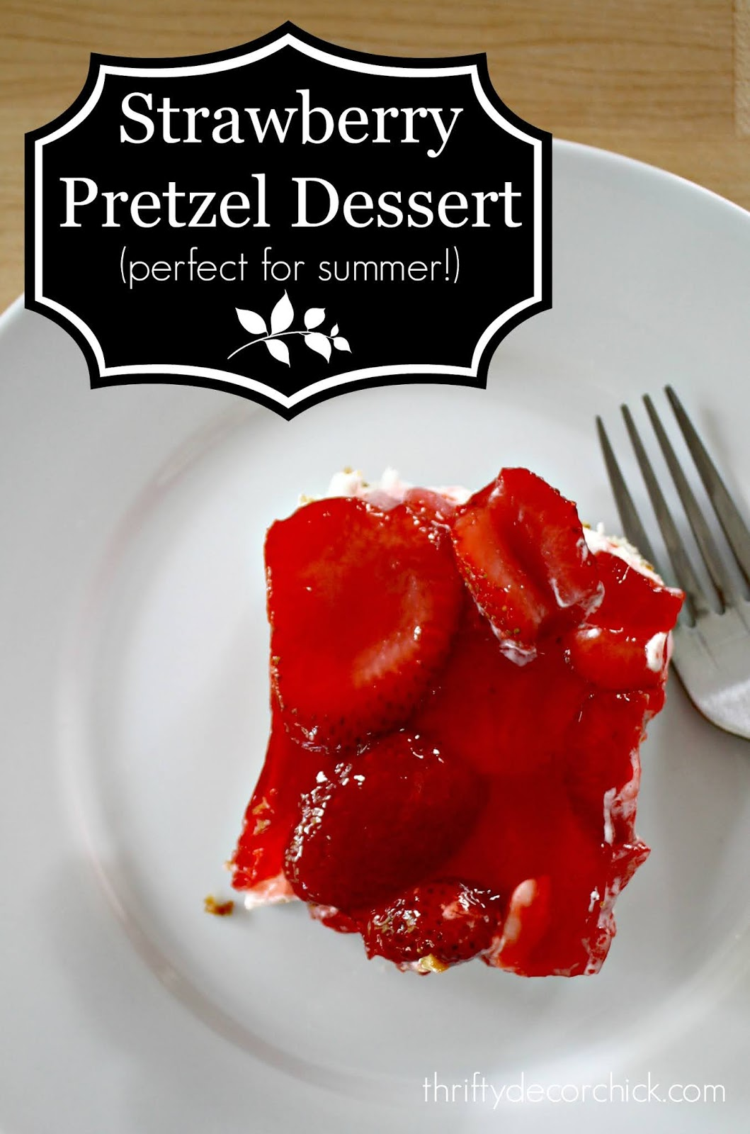 Delicious strawberry pretzel dessert
