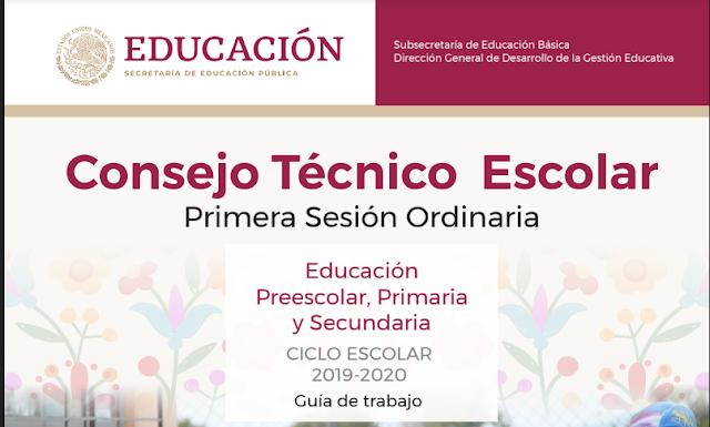 Guía Consejo Técnico Escolar 1a sesion CTE 2019-2020 NEM