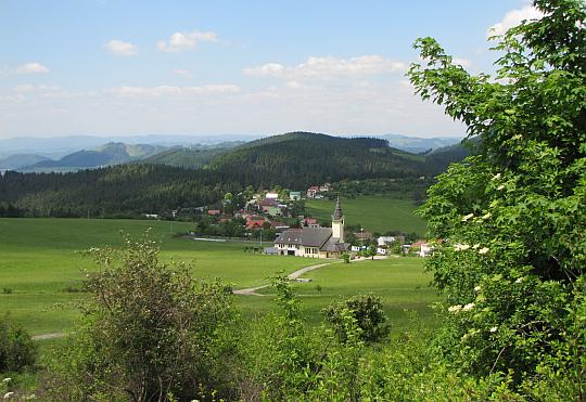 Zástranie - widok ze stoków Straníka.