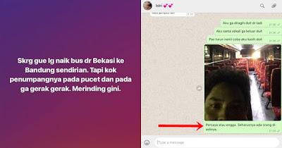Kabar Berita Terbaru Hari INI Penumpang 'bus hantu' Bekasi-Bandung sempat WA istri sambil gemetaran