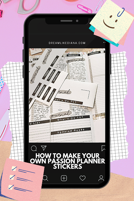 make your own passion planner stickers pinterst pin