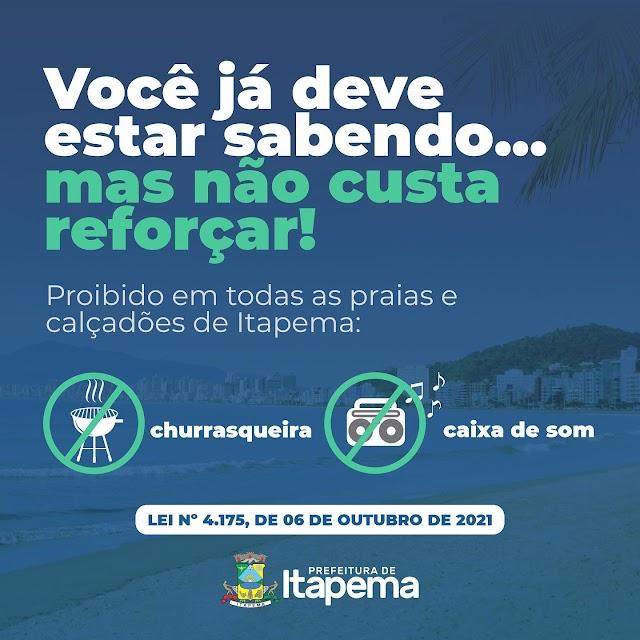 Proibido Caixa de som na Orla de Itapema