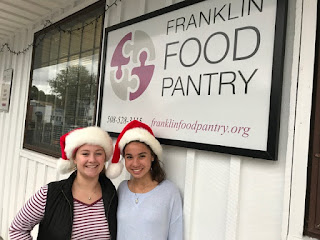 Julia Buccella and Natalie Dextradeur are the Co-Lead Food Elves for the 2017 Campaign (Photo courtesy of Patti Dextradeur.)