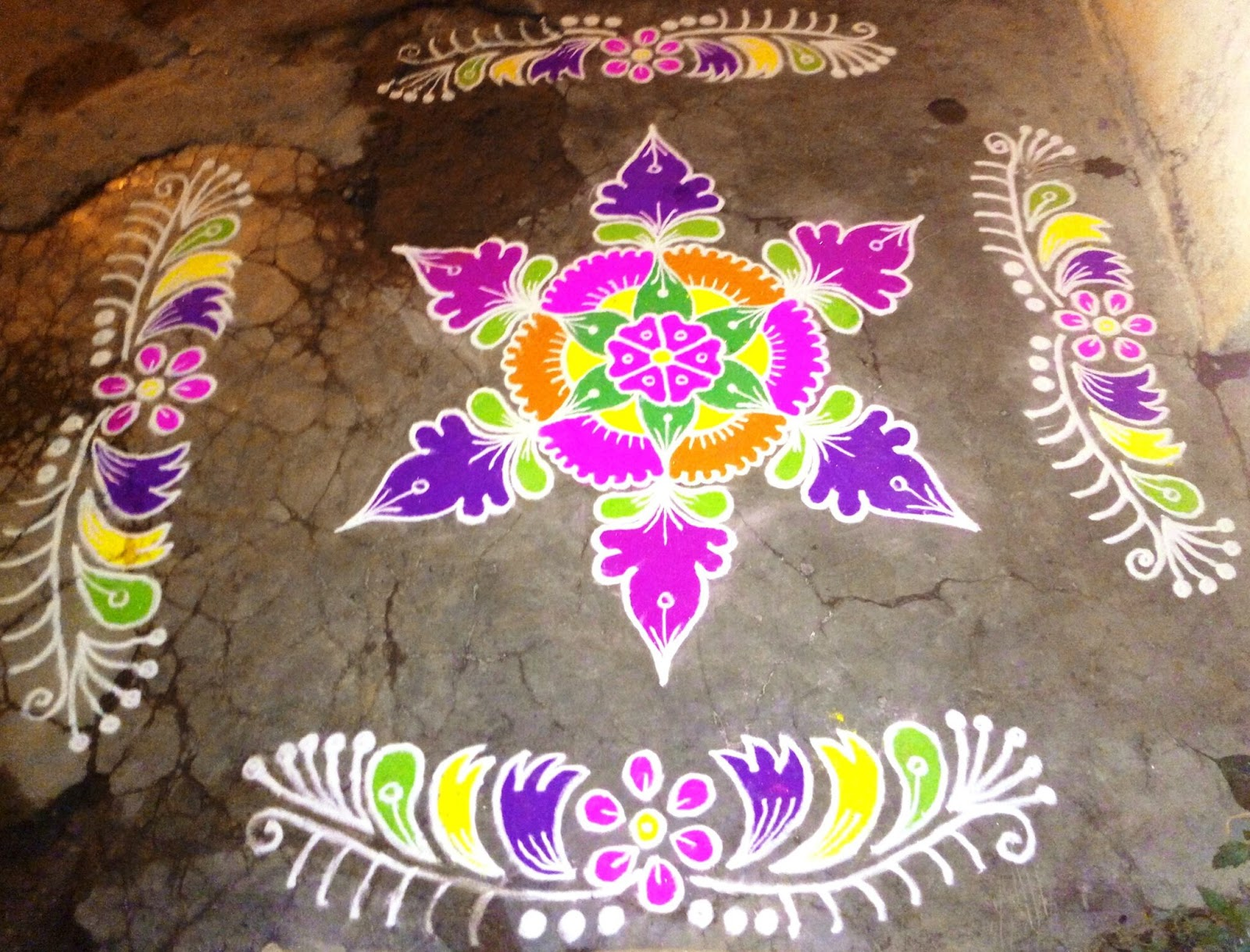 Holi Rangoli Colours