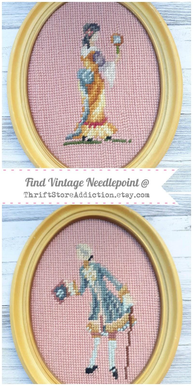 vintage needlepoint