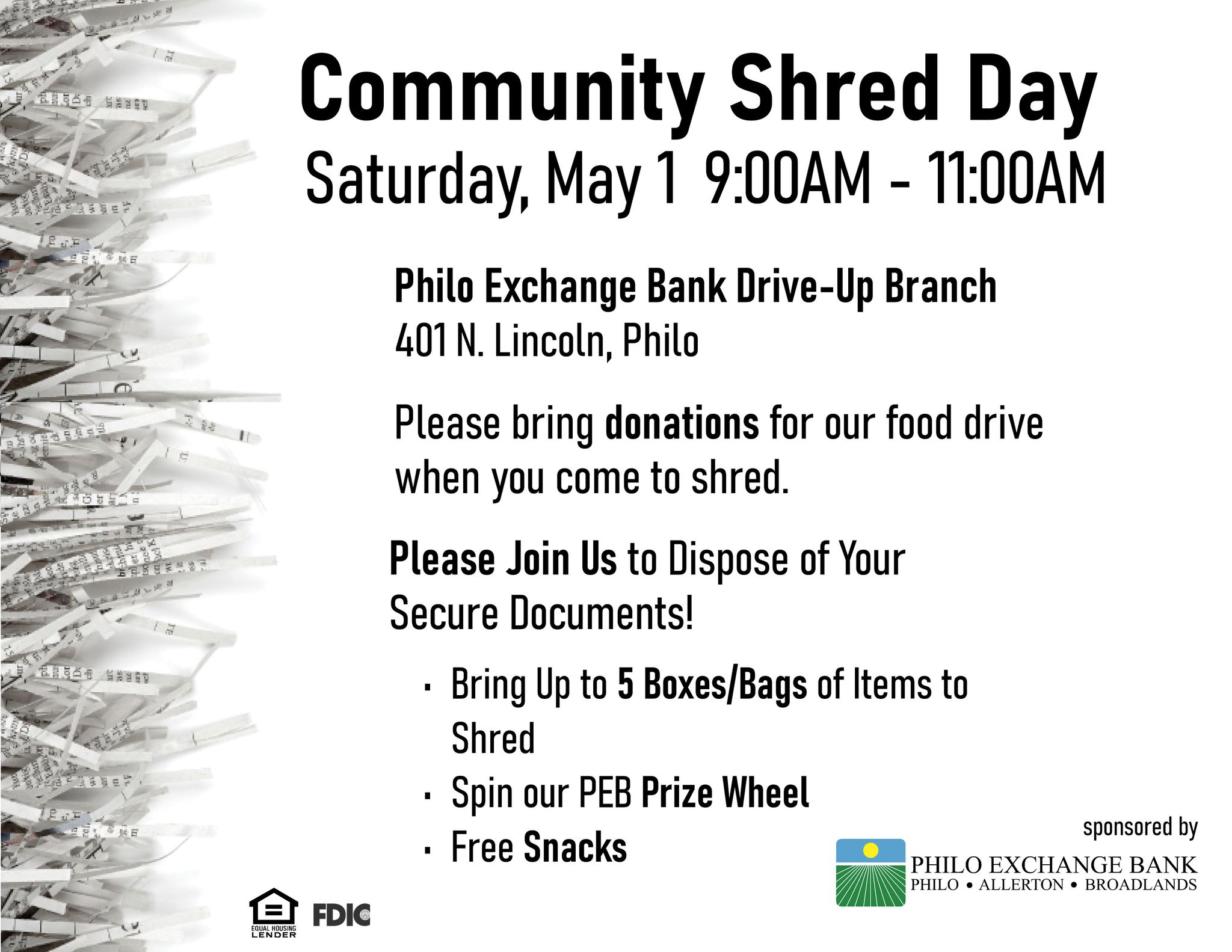 Community shred day in Philo