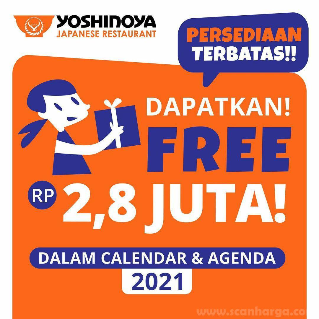 Beli Calendar & Agenda Yoshinoya 2021 - GRATIS Promo Voucher senilai 2,8 Juta