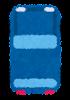 上から見た自動車のイラスト(青)