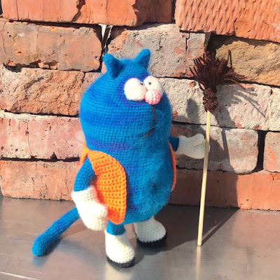 Вязаный кот Васька крючком