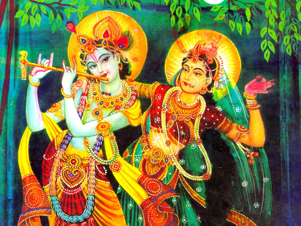 Lord Krishna With Gopis 3d Wallpaper Radha God Wallpapers Wallpapers