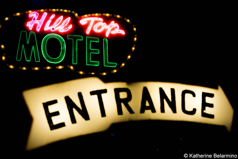 Hill Top Motel Neon Sign Route 66 Things to Do in Kingman Arizona