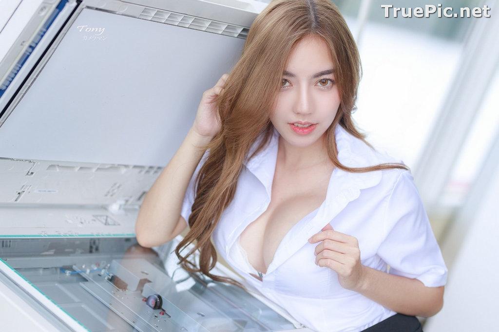Image Thailand Model - Champ Phawida - Sexy Secretary and Office Uniform - TruePic.net - Picture-3