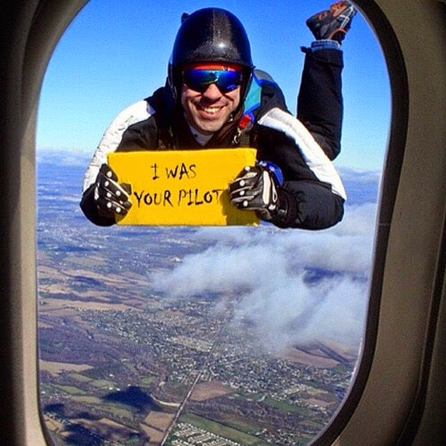 Funny I Was Your Pilot Skydiver Sign Picture