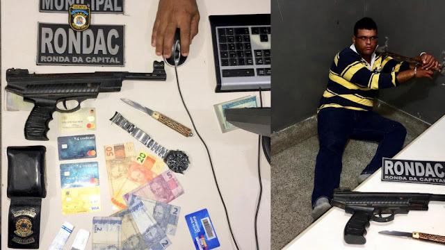 Servidor da Câmara de vereadores de Adustina-BA é preso pela GMA após roubar carro de aplicativo