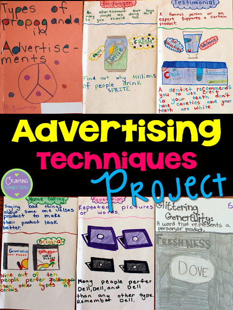 Advertising Techniques: A Project | Upper Elementary Snapshots