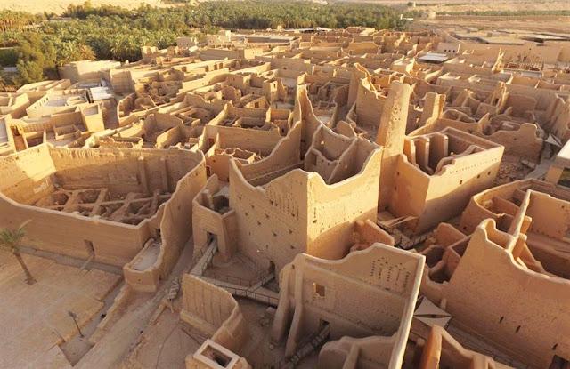 El histórico distrito de Al-Turaif en Diriyah