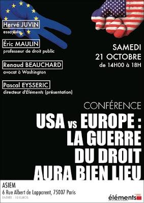 USA Europe conférence revue Eléments
