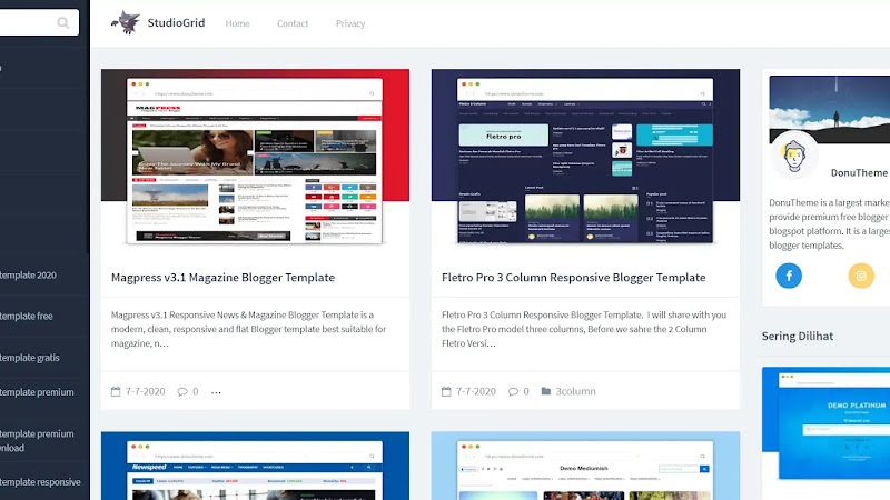 StudioGrid Responsive Blogger Template - Responsive Blogger Template