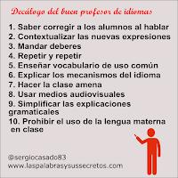 Decálogo del buen profesor de idiomas
