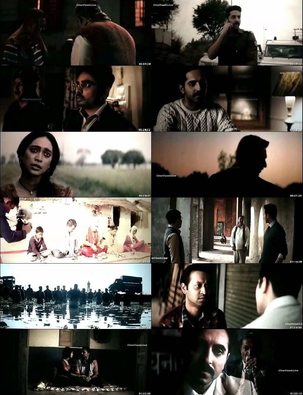 Screen Shot Of Article 15 2019 300MB Pdvd Full Hindi Movie Watch Online Free Download