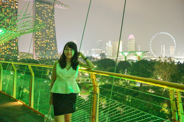 Pemandangan indah di OCBC Skywalk Gardens By The Bay