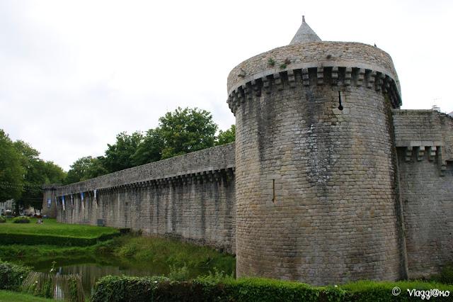 Una porzione di cinta muraria della città di Guérande