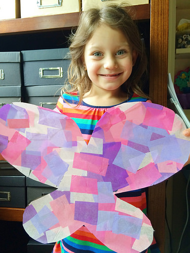 Butterfly Curriculum tissue paper craft