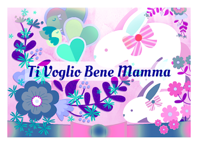 Cartolina da stampare: Ti voglio Bene Mamma