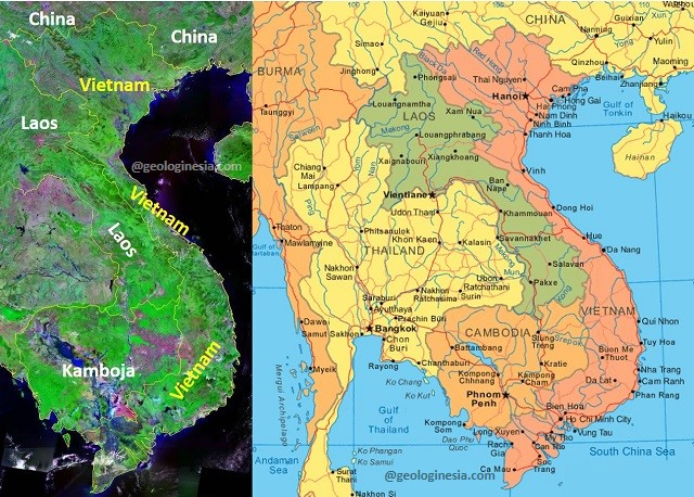 negara yang berbatasan dengan vietnam