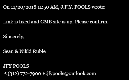 Nichole Ruble, Sean Ruble, Sean & Nikki Ruble, JFY Pools, JFY Excavation, JFY Enterprises, Jest For You Pools, jfypools.com, Carol Novotny, Nichole Kronish