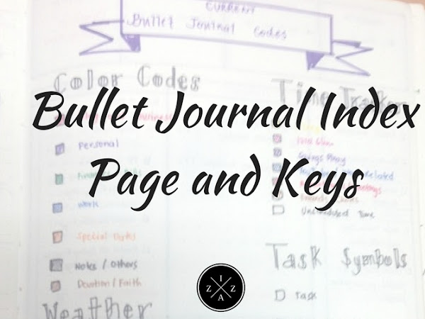 Bullet Journal Index Page and Keys