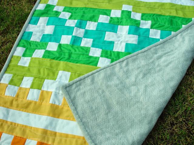Fair Isle free baby quilt tutorial by Leah Douglas for Moda Bake Shop