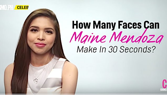 How Many Faces Can Maine Mendoza Do In 30 Seconds?